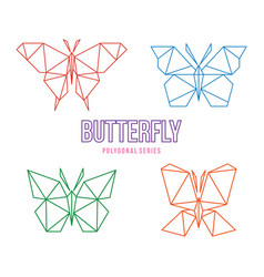 butterfly low poly design vector image