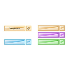Color blank labels vector