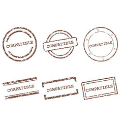 Compatible stamps vector