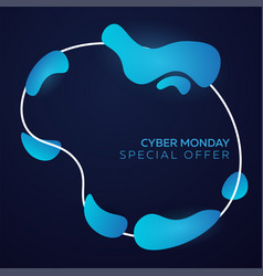 cyber monday liquid colorful shapes vector image