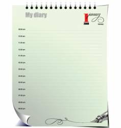 Diary Jan vector