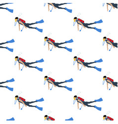 diver seamless pattern vector image
