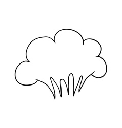 Doodle cartoon bang like a cloud vector