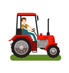 Farm tractor icon Cartoon vector