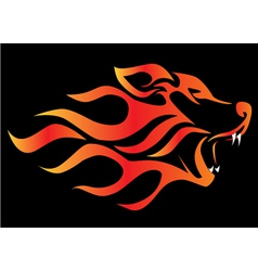 Flame wolf vector