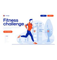 Flat modern design fitness challenge vector