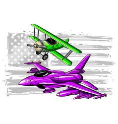 Flight evolution icons set vector