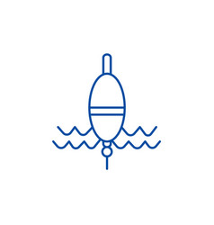 float fishing line icon concept float fishing vector image