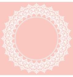 Floral Modern Round Frame vector