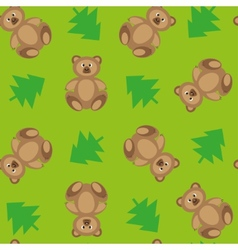 Forest bears 2 vector image