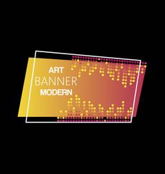 geometric neon modern illuminated banner vector image
