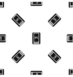 Global positioning system pattern seamless black vector