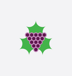 grape and leaf logo icon clipart vector image