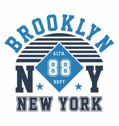 Graphic design brooklyn ny new york for t-shirts vector