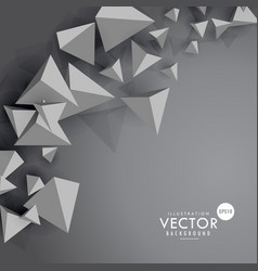 gray background with 3d floating polygons vector image