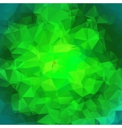 Green polygonal mosaic background vector image