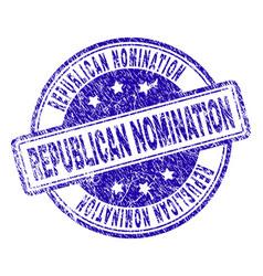 Grunge textured republican nomination stamp seal vector