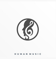 head music template vector image