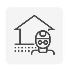 home collapse icon vector image