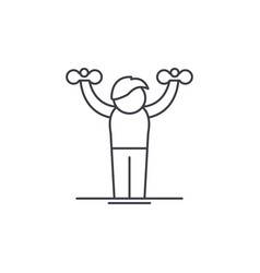 Home gymnastics line icon concept home gymnastics vector