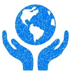 International Insurance Grainy Texture Icon vector