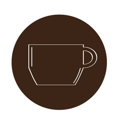 isolated coffee mug icon on a label vector image
