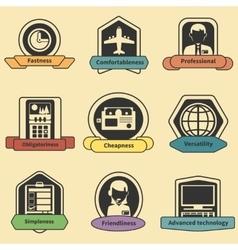 Logistic transportation fastness delivery emblems vector