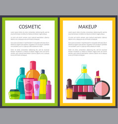 makeup and cosmetic color vector image