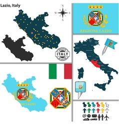 Map of Lazio vector