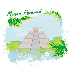 Mayan Pyramid Chichen-Itza Mexico vector
