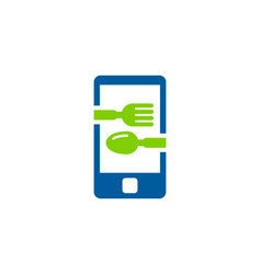 mobile food logo icon design vector image