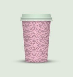 Modern coffee cup to go vector