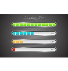 Modern color loading bars set vector