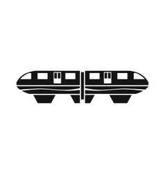 Monorail train icon simple style vector