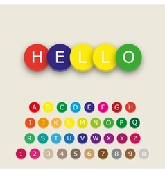 Multicolored alphabet letters icons vector image