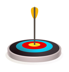 new target icon cartoon style vector image
