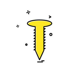 nut bolt icon design vector image