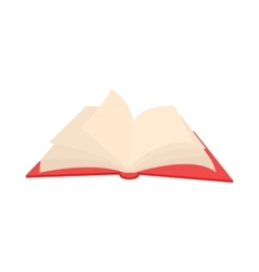 Opened book with pages fluttering icon vector image