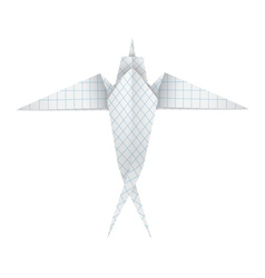 Origami swallow vector