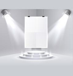 Paper poster a4 podium vector