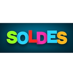 Paper soldes sign vector