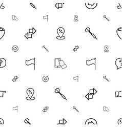 Point icons pattern seamless white background vector