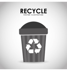 recycle icon design vector image