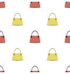 Seamless Womens Handbag Pattern vector