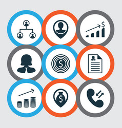 set of 9 human resources icons includes vector image vector image