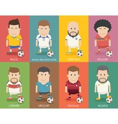 Set of national soccer team uniform football play vector