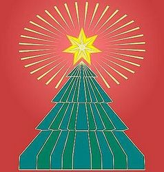 shining xmas star vector image