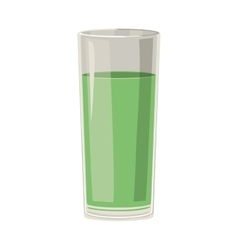 silhouette with drink in color green vector image