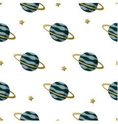 Simple kids background with planets outer space vector