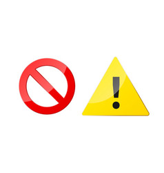 stop and attention icons for web and app ban and vector image